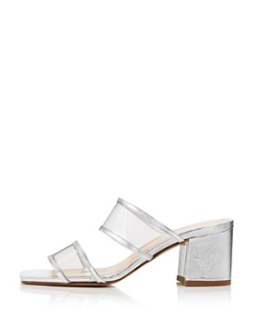 Charles David - Women's Cally Leather Illusion Block Heel Slide Sandals