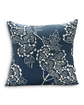 "Sugar Feather - Peony Dark Decorative Pillow, 22"" x 22"""