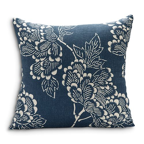 "Sugar Feather - Peony Dark Decorative Pillow, 22"" x 22"""