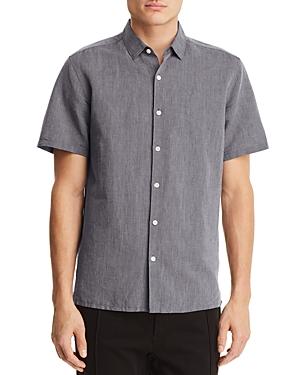 Theory Murrary Essential Short Sleeve Button-Down Shirt