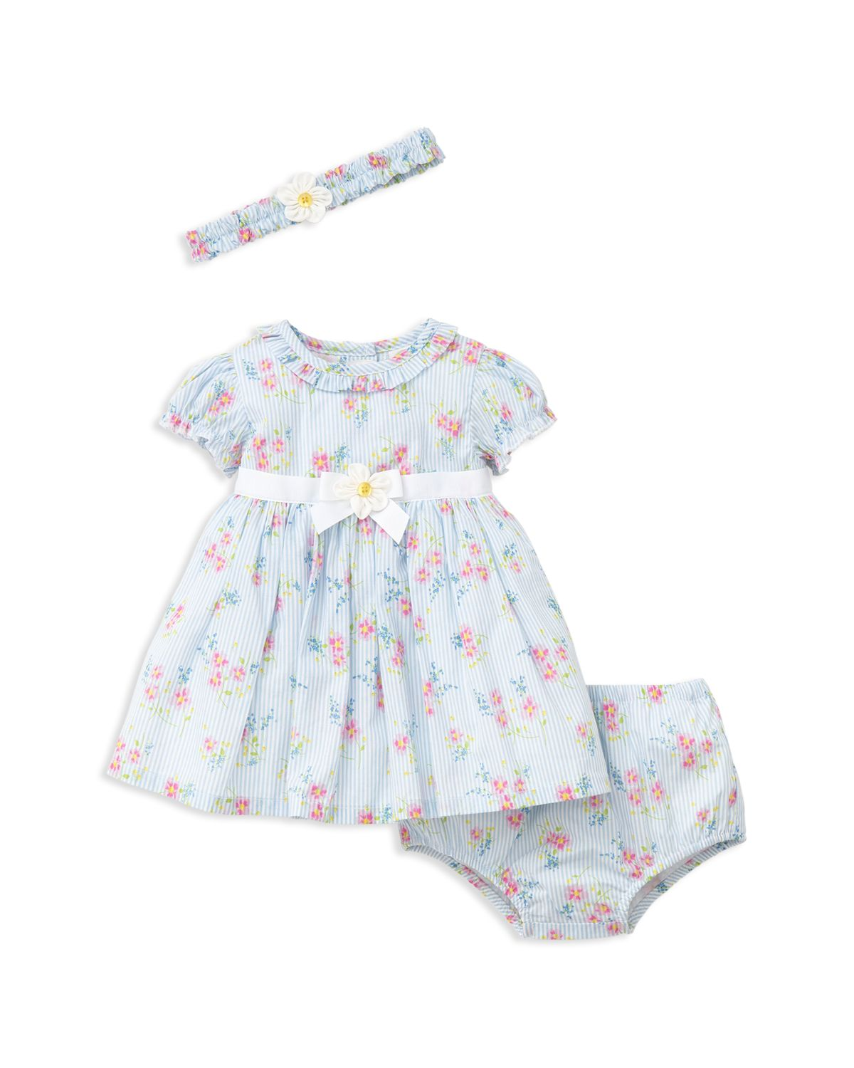 Girls' Springtime Dress, Romper & Headband Set   Baby by Little Me