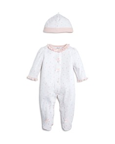 Little Me Girls' Star-Print Footie & Cap Set, Baby - 100% Exclusive - Bloomingdale's_0