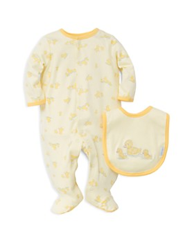 Little Me - Unisex Little Ducks Footie & Bib Set - Baby
