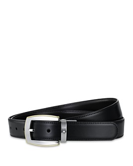 Montblanc - Men's Shiny Palladium and Gold-Coated Reversible Leather Belt