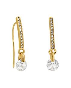 ADORE - Linear Pavé & Cubic Zirconia Drop Earrings