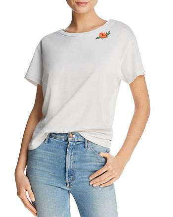 MOTHER - The Goodie Goodie Boxy Embroidered Tee