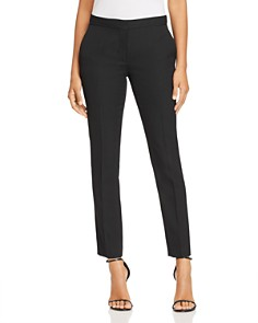 Burberry - Hanover Wool Straight-Leg Ankle Pants