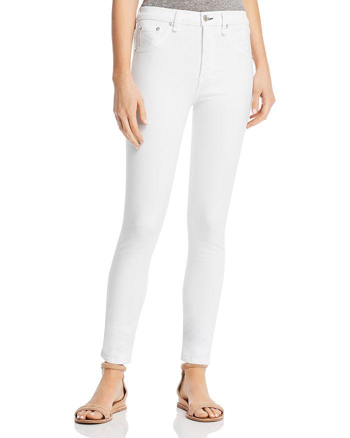 39c3a813de4 rag   bone JEAN - High-Rise Skinny Jeans in White