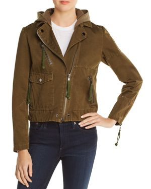 Appliqued Army Jacket, Army Green