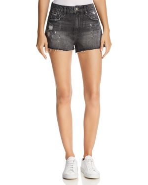 PISTOLA NOVA SHADOW POCKET RELAXED CUTOFF DENIM SHORTS IN NIGHT RUN