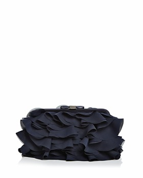 AQUA - Chiffon Ruffle Clutch - 100% Exclusive