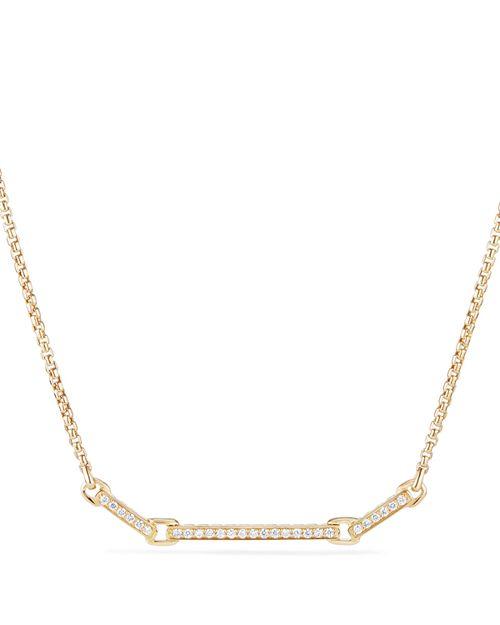 David Yurman - Petite Pavé Station Necklace with Diamonds in 18K Gold