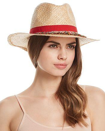 AQUA - Fringe-Trim Panama Hat - 100% Exclusive