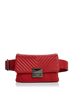 AQUA - Skinny V Quilt Belt Bag - 100% Exclusive