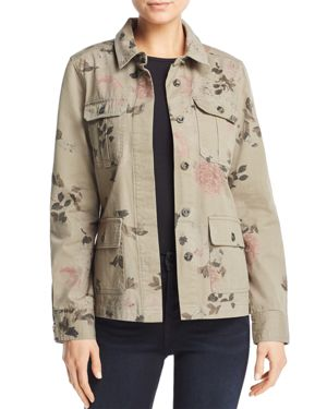 FLORAL PRINT ARMY JACKET - 100% EXCLUSIVE