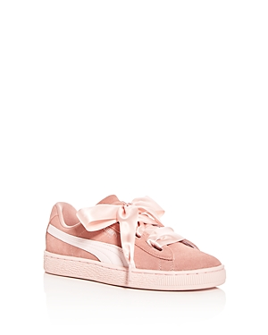 Puma Girls Heart Jewel Suede Lace Up Sneakers  Big Kid