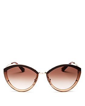 Prada - Women's Oversized Rimless Cat Eye Sunglasses, 62mm