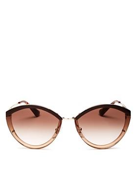 Prada - Women's Oversized Rimless Cat Eye Sunglasses, 62mm
