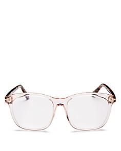 Tom Ford - Square Blue Blocker Glasses, 54mm