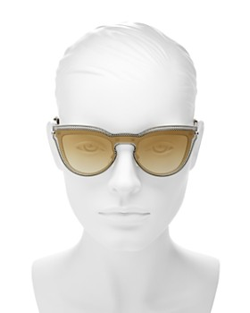 Valentino - Women's Mirrored Cat Eye Shield Sunglasses, 135mm