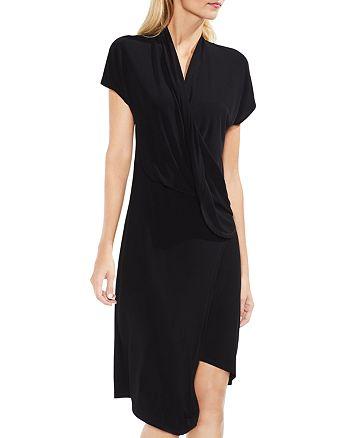 VINCE CAMUTO - Draped Faux Wrap Dress