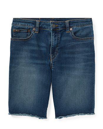 58a1da3c69 Ralph Lauren Boys' Frayed Denim Cutoff Shorts - Big Kid | Bloomingdale's