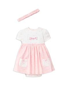 Little Me Girls' Flower Dot Bodysuit Dress & Headband Set - Baby - Bloomingdale's_0