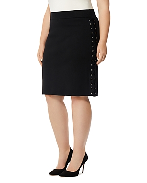 Rebel Wilson x Angels Lace-Up Pencil Skirt