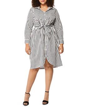 Rebel Wilson x Angels Plus - Striped Shirt Dress