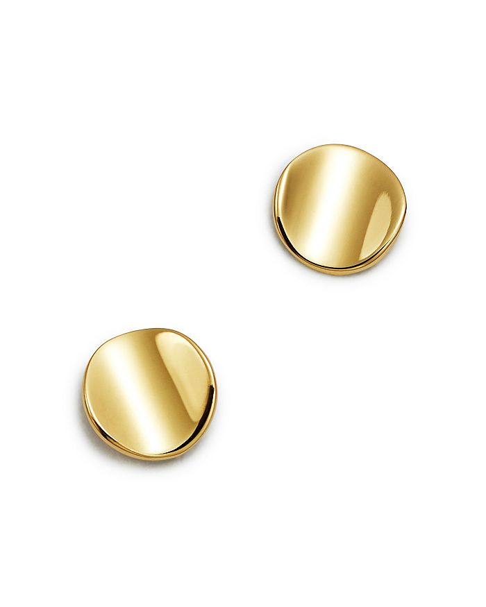Moon & Meadow - Curved Circle Stud Earrings in 14K Yellow Gold - 100% Exclusive