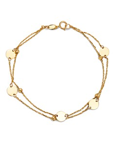 Moon & Meadow - Layered Disc & Bead Bracelet in 14K Yellow Gold - 100% Exclusive