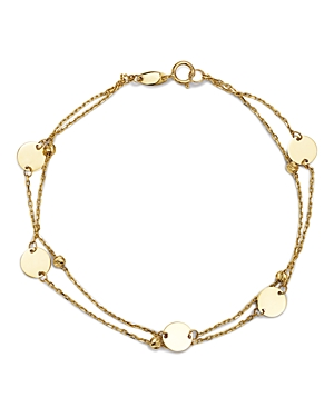 Moon & Meadow Layered Disc & Bead Bracelet in 14K Yellow Gold - 100% Exclusive