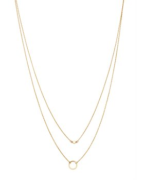 "Moon & Meadow - Layered Circle Pendant Necklace in 14K Yellow Gold, 17"" - 100% Exclusive"