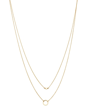 Moon & Meadow Layered Circle Pendant Necklace in 14K Yellow Gold, 17 - 100% Exclusive