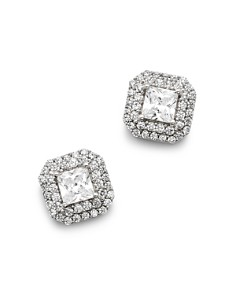 Bloomingdale's Diamond Halo Stud Earrings in 14K White Gold, 0.80 ct. t.w. - 1.50 ct. t.w. - 100% Exclusive_0