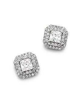 Bloomingdale's - Diamond Halo Stud Earrings in 14K White Gold, 0.80 ct. t.w. - 1.50 ct. t.w. - 100% Exclusive