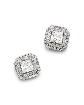 Bloomingdale's - Diamond Halo Stud Earrings in 14K White Gold, 0.80 ct. t.w. - 1.50 ct. t.w. - 100% Exclusive