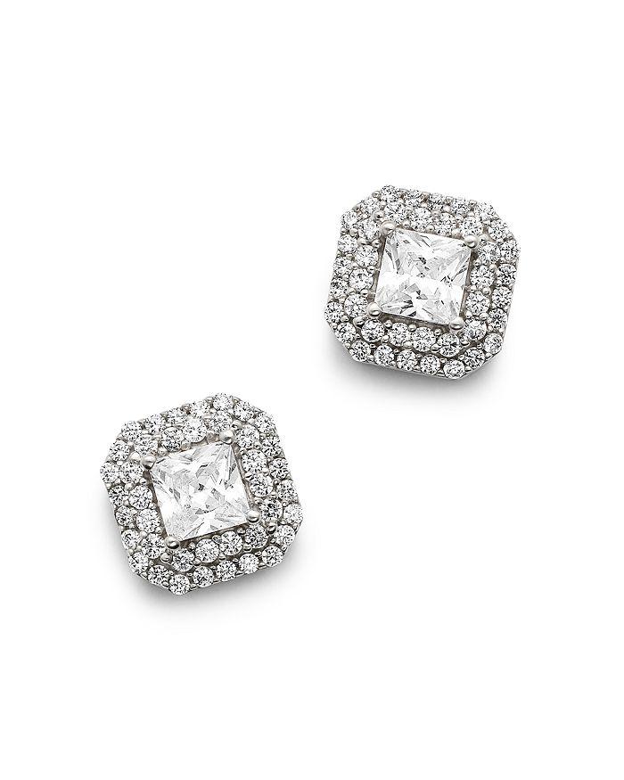 Bloomingdale's Diamond Halo Stud Earrings In 14k White Gold, 1.50 Ct. T.w. - 100% Exclusive