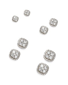 Bloomingdale's Diamond Cluster Stud Earrings in 14K White Gold, 0.50 ct. t.w. - 2.0 ct. t.w. - 100% Exclusive _0