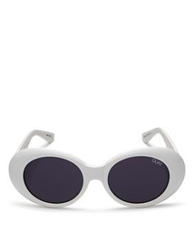 Quay - Women's Frivolous Oval Sunglasses, 55mm