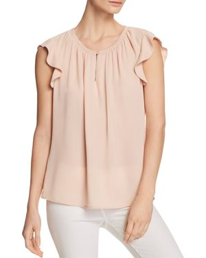 DANIEL RAINN FLUTTER SLEEVE TOP