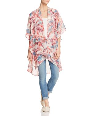 STATUS BY CHENAULT FLORAL DUSTER KIMONO