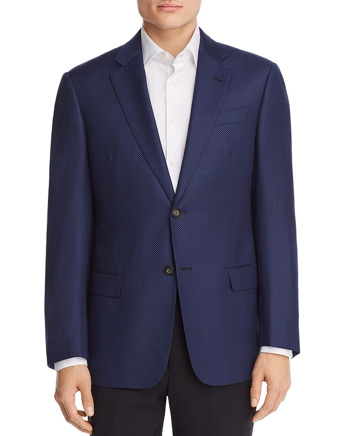 Armani - Micro Dotted Tailored Classic Fit Sport Coat