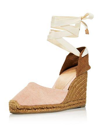 a838f9c1c98 Castañer Women's Carina Lace Up Espadrille Wedge Sandals ...