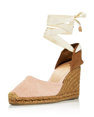 WOMEN'S CARINA LACE UP ESPADRILLE WEDGE SANDALS