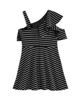 Bardot Junior - Girls' Senna Striped Asymmetrical Dress - Little Kid