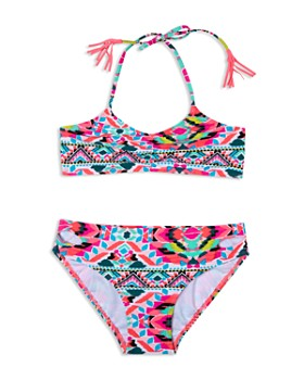 Gossip Girl - Girls' Surfside Solstice 2-Piece Fringed Swimsuit - Big Kid