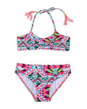 Gossip Girl Girls' Surfside Solstice 2-Piece Fringed Swimsuit - Big Kid