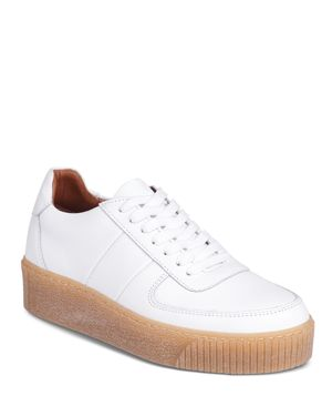 WOMEN'S ABBEY LEATHER LACE UP PLATFORM SNEAKERS