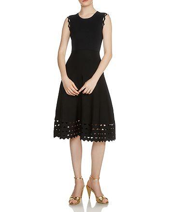 Maje - Rumba Perforated Knit Midi Dress